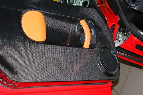 Enzo carbon fiber door panel and manual window crank