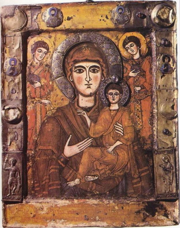 Οδηγήτριας με Αρχάγγελοι της Tsilkani 9ου αιώνα
