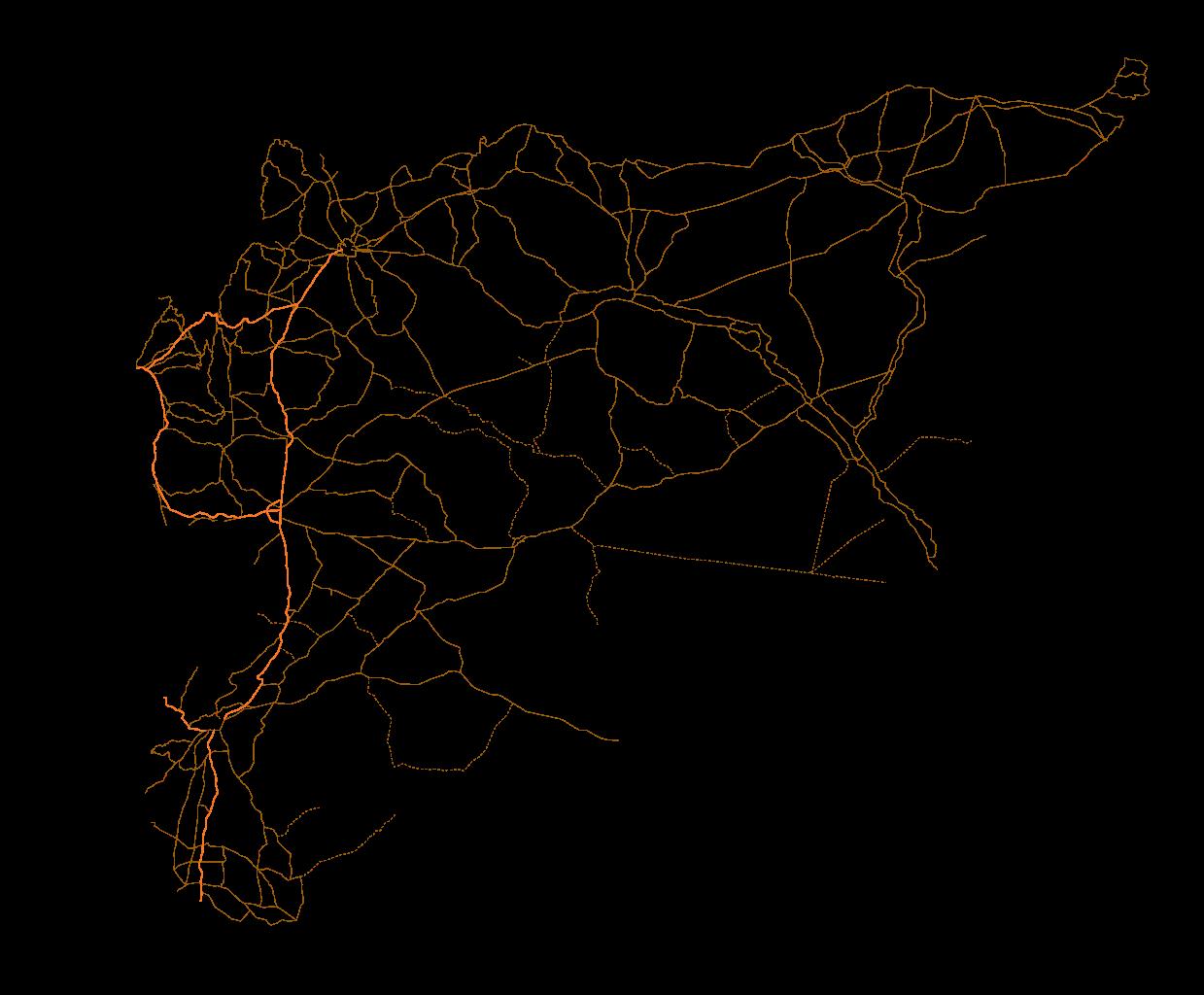 Filesyria Location Map Road Overlay Svg Wikimedia Commons