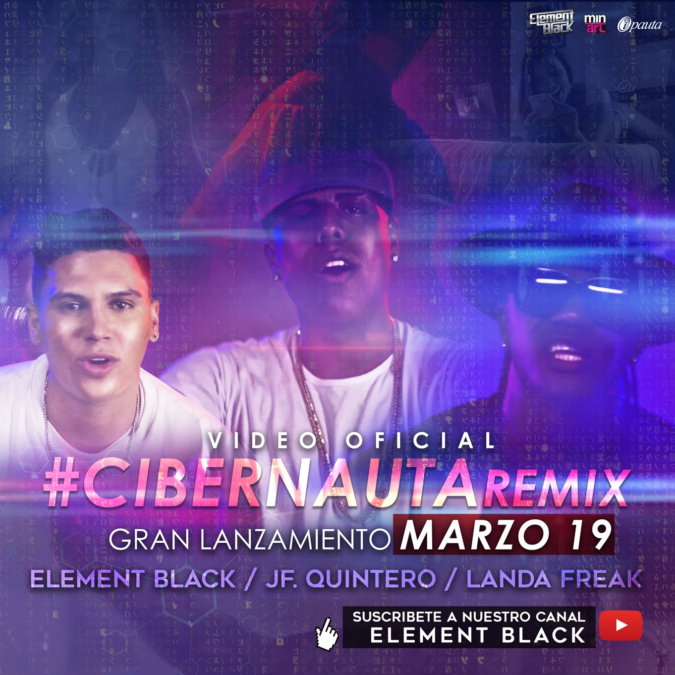 Cover CIBERNAUTA OFICIAL VIDEO ELEMENT BLACK