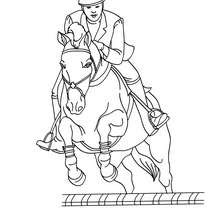 Dibujos Para Colorear Un Caballo Saltando Un Obstaculo Es
