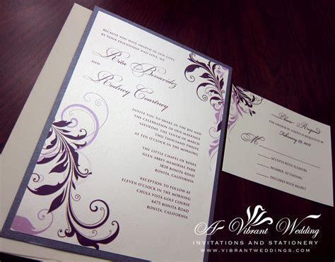Eggplant Purple wedding invitation ? A Vibrant Wedding
