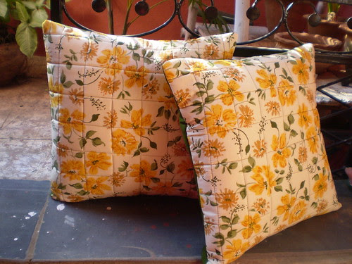 Pillows to brighten up the rooms... For my etsy shop