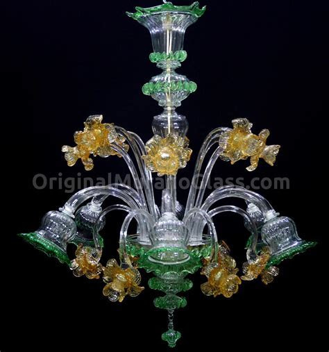 Chandelier Orchidea   Floral   Murano Glass