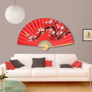 Grand Eventail Geant Chinois Japonais Et Thaïlandais De Decoration