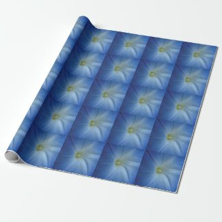 Heavenly Blue Morning Glory Close-Up Gift Wrap Paper