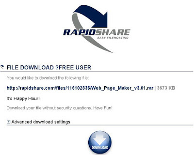RapidShare Happy Hours status Check
