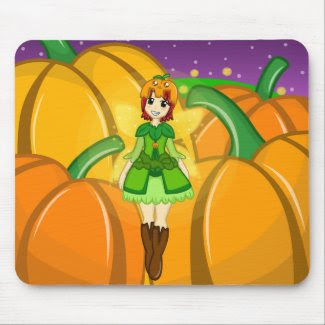 Pumpkin Fairy Harvest Mousepad mousepad