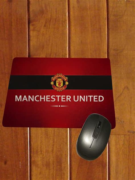 jual mouse pad manchester united logo keren custommouse