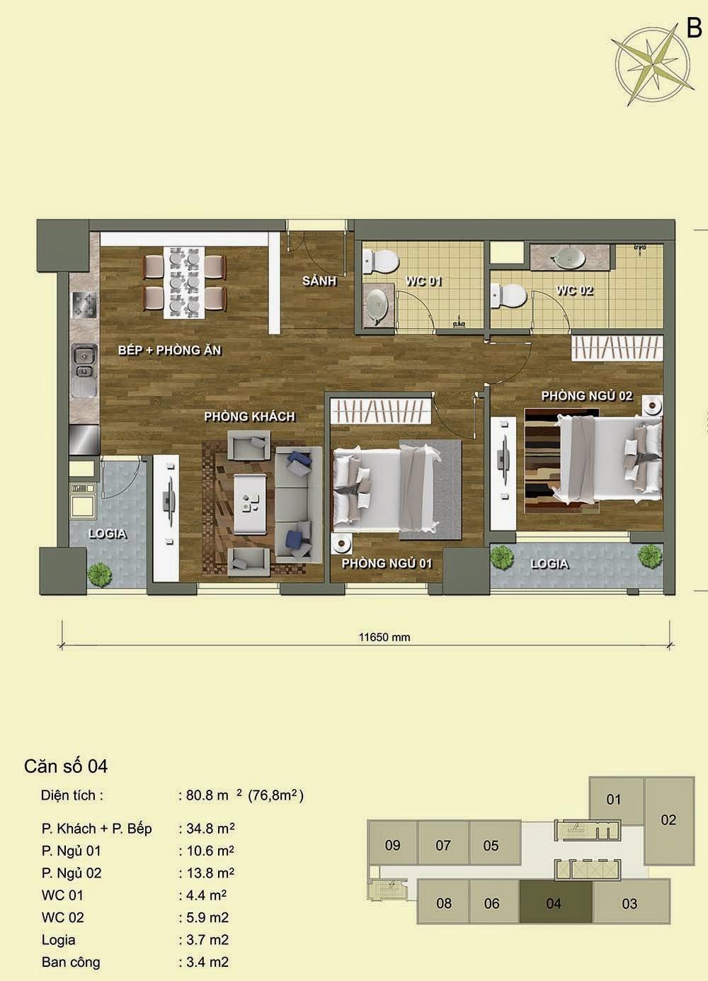 Căn số 04 - Park View Residence