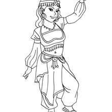 Dibujos Para Colorear Princesa Del Medio Oriente Eshellokidscom