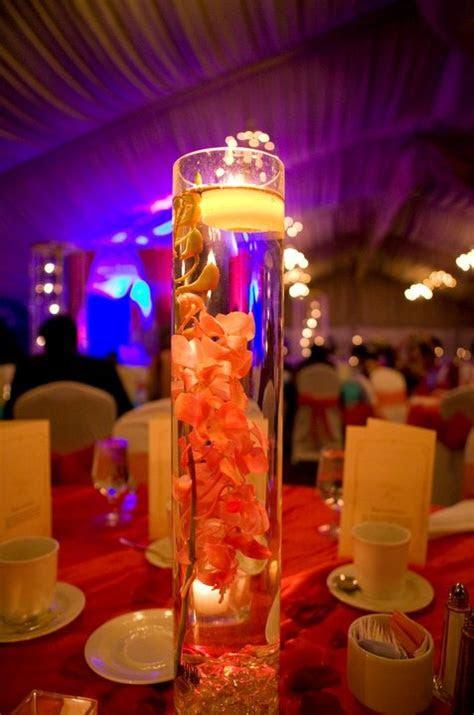 tall glass cylinder centerpiece  light trois sweet