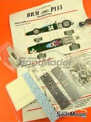 Maqueta de coche 1/43 Model Factory Hiro - BRM H-16  Nº 34 - Jackie Stewart - Gran Premio de Italia 1967 - kit multimaterial image