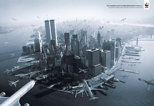 The WWF Tsunami print ad by DDB Brasil