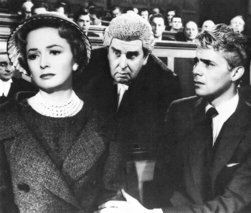 Olivia de Havilland, Robert Morley and Dirk Bogarde in Libel