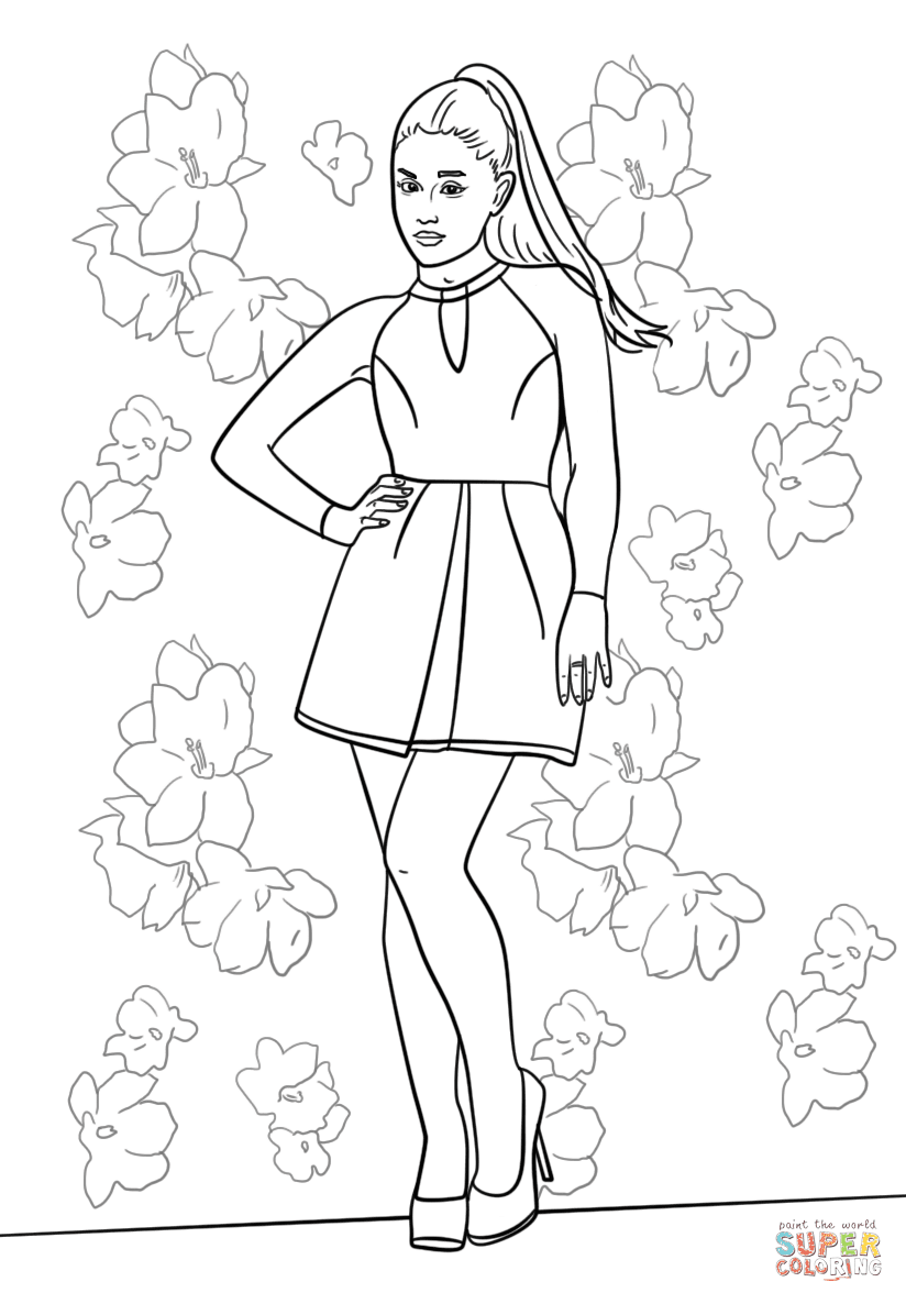 Ariana Grande coloring page  Free Printable Coloring Pages