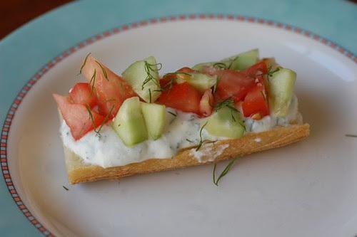 Dill ricotta sandwich