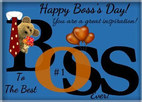 To The Best Boss Ever! Free You Inspire Me eCards