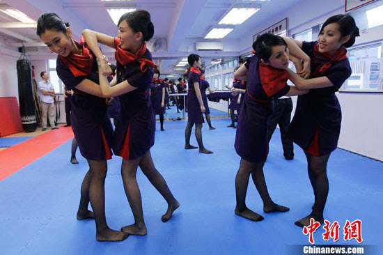 Hong Kong air stewardess learn martial arts