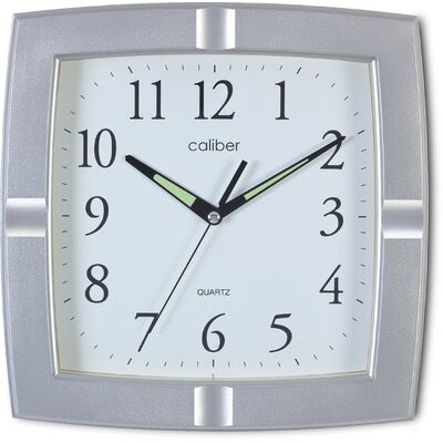 Wall Clock Chrome Decor | Wayfair