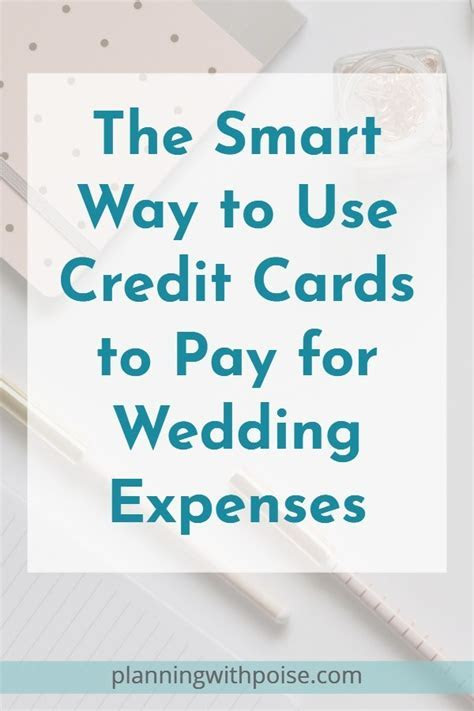 Use a Credit Card to Pay for Wedding Expenses ? Planning