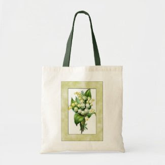 Lily of the Valley tote bag bag