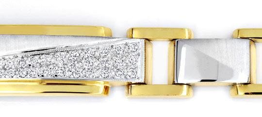 Foto 2, DESIGNER-BRILLANTARMBAND, 18K GOLD, 32 DIAMANTEN LUXUS!, S6800