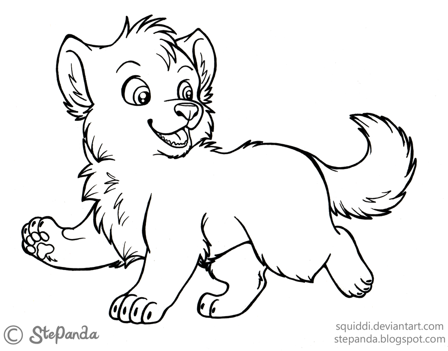 Free LineArt Puppy Wolf by StePandy on DeviantArt