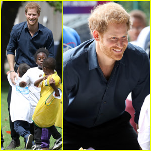 Prince Harry Takes Part in Fit & Fed Campaign With Some Adorable Kids!