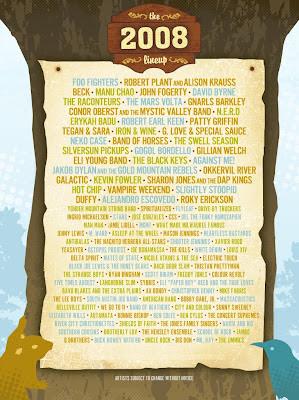 2008 Austin City Limits Music Festival Lineup