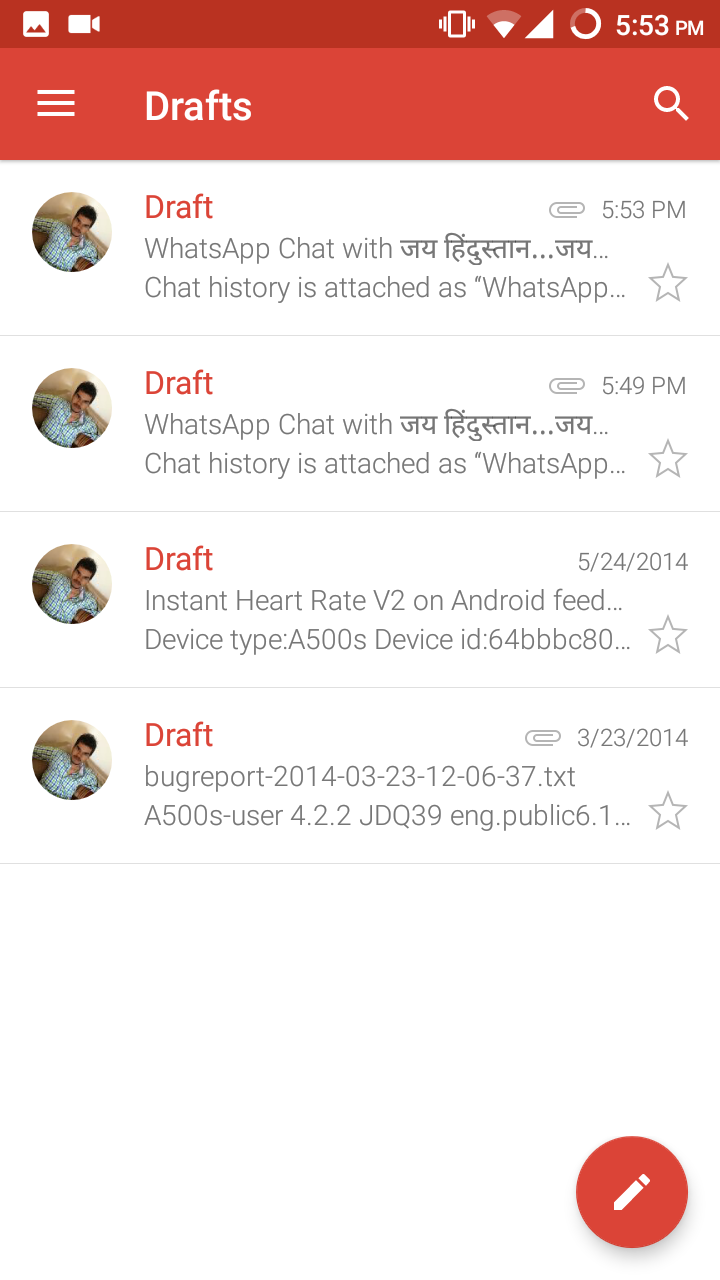 Draft Email in Gmail App