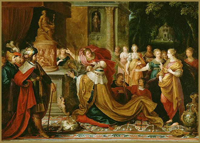 Solomon's idolatry, Frans Francken II, Flemish, 1622.