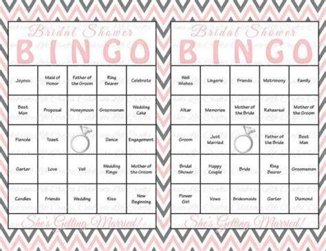 30 Bridal Shower Bingo Cards   DIY Printable Party Game