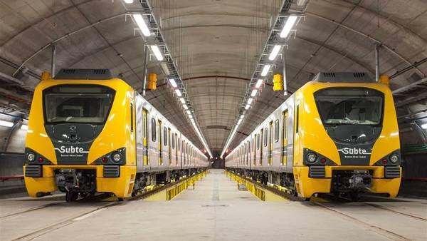 Los trenes nuevos para el subte