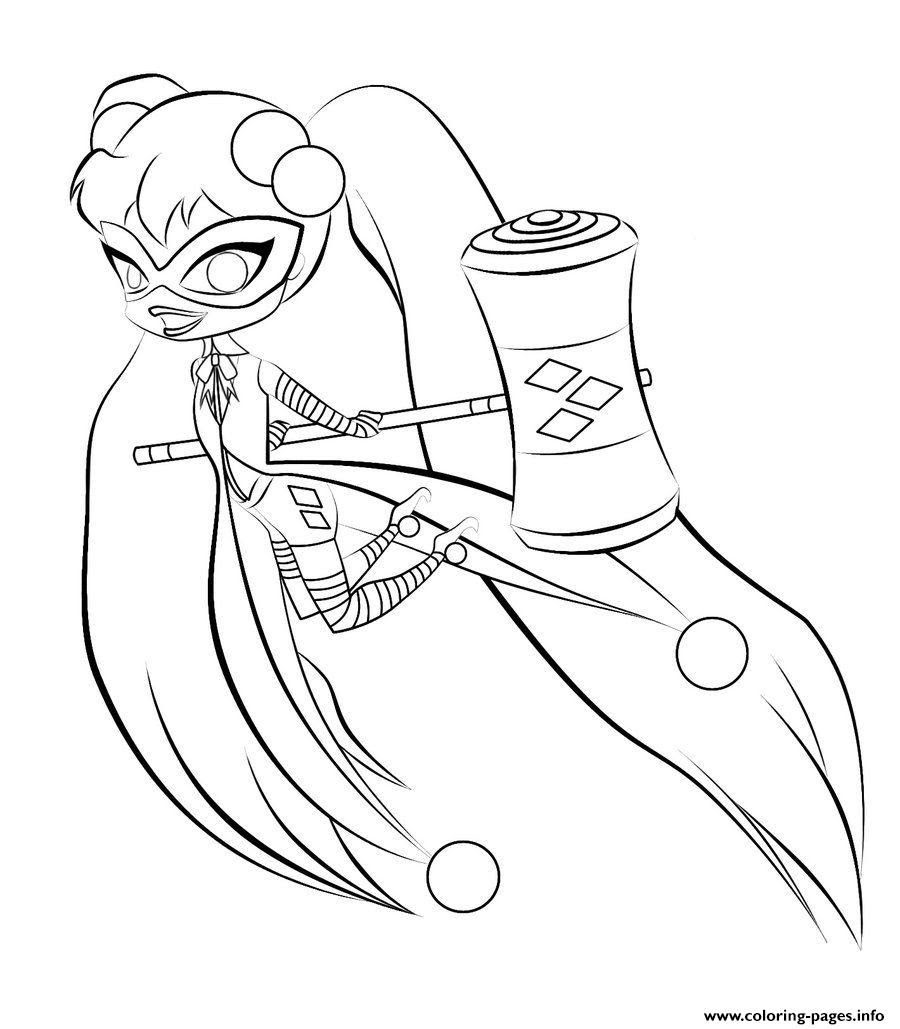 Harley Quinn Coloring Pages Printable At Getdrawingscom Free For