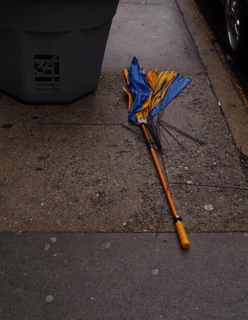 broken umbrella