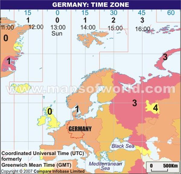 Timezone Deutschland
