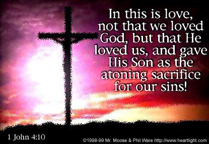 Inspirational illustration of 1 John 4:10