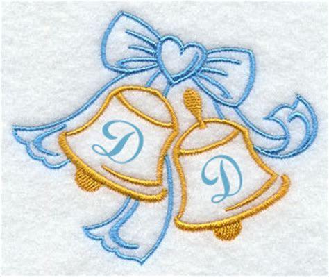 Wedding Bells Handkerchief Embroidery Design hank25