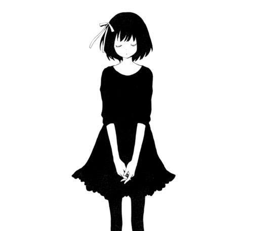 Black And White Anime Manga Anime Love Sad Anime Sad Anime Girl Lonely Anime Girl Kyuketsukimegami