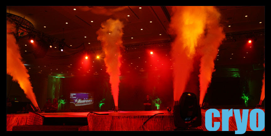 cryo effects and CO2 jets rentals