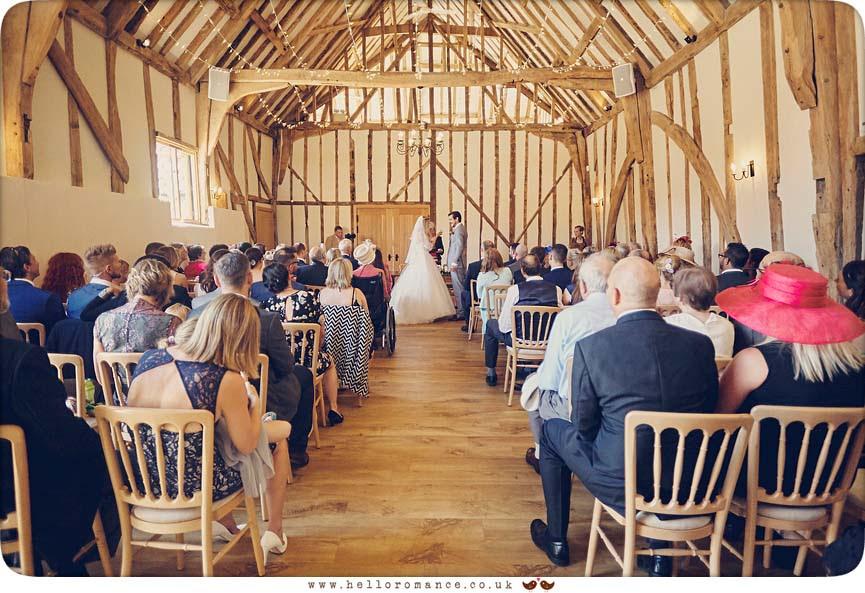 Wedding ceremony at Bruisyard Hall - www.helloromance.co.uk