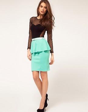 Image 1 ofPaprika Peplum Belted Skirt