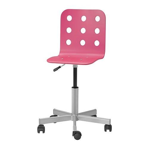 JULES Junior desk chair - pink/silver color - IKEA