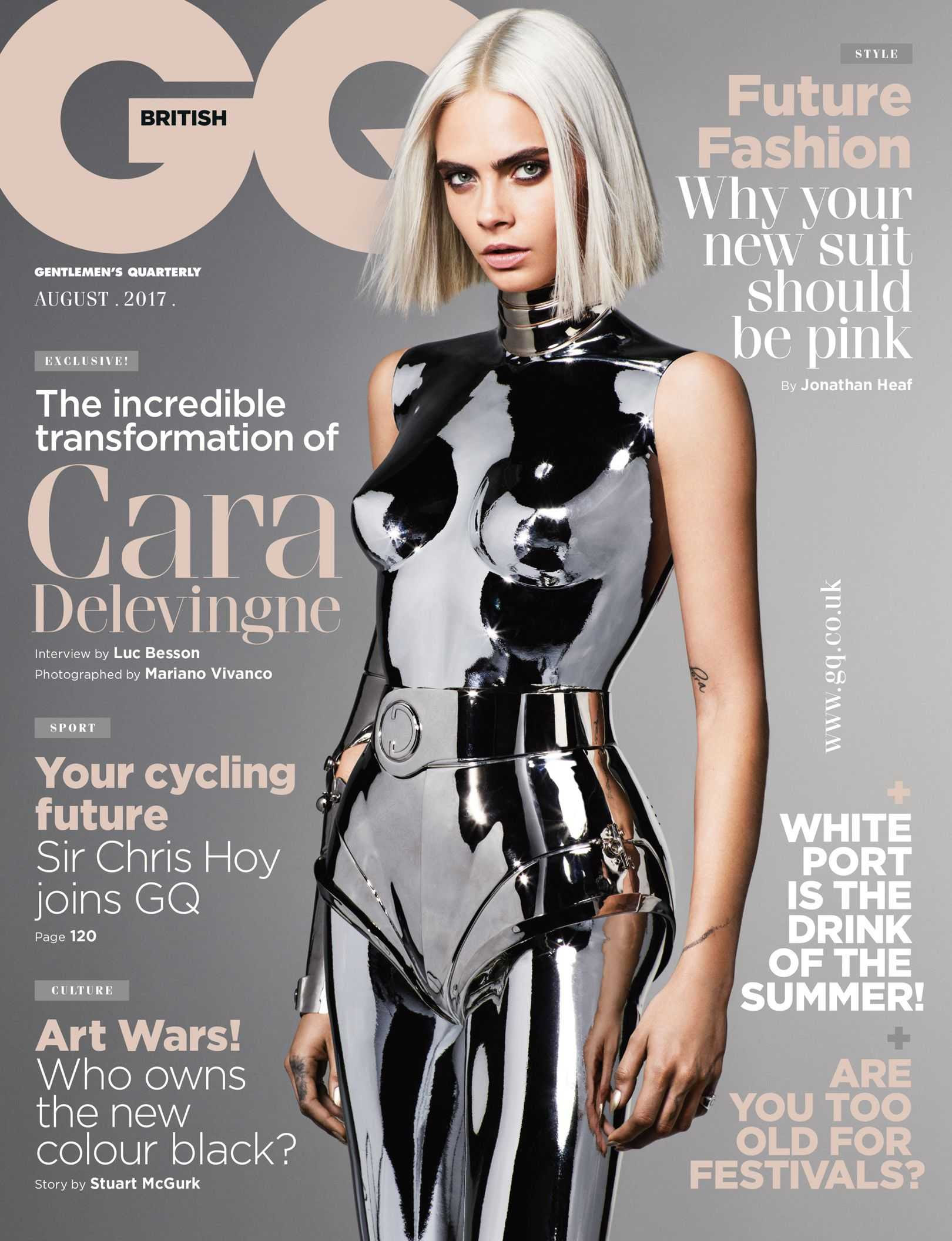 Cara Delevingne Photoshoot by Mariano Vivanco for British GQ - August 2017