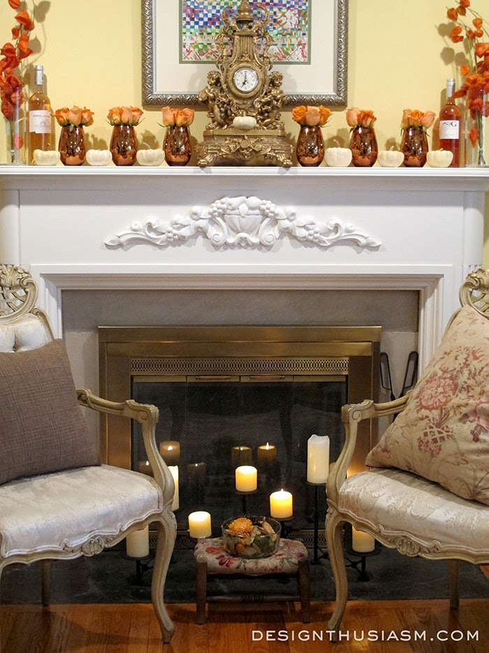Simple but Elegant Fall Mantel