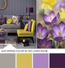 Purple and Yellow Living Room Color Palette | HGTV Design Blog ...