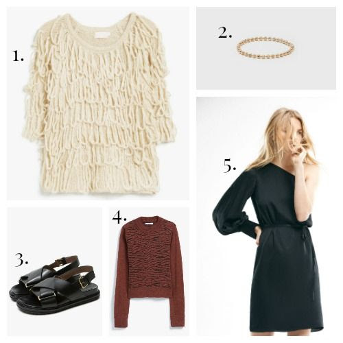 Farrow Sweater - Gabriela Artiagas Ring - Marni Sandals - Ganni Sweater - Massimo Dutti Dress