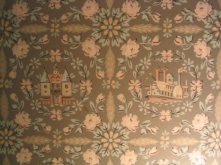 Wallpaper, Rutan-Felch House, Conference House Park, Staten Island