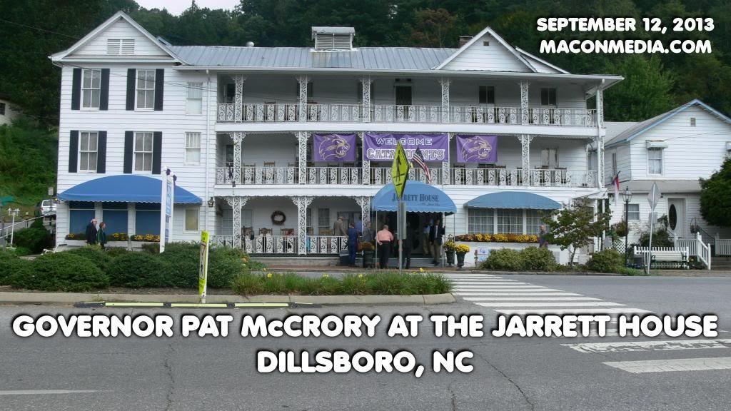 Governor Pat McCrory Visits Dillsboro ©2013 Bobby Coggins